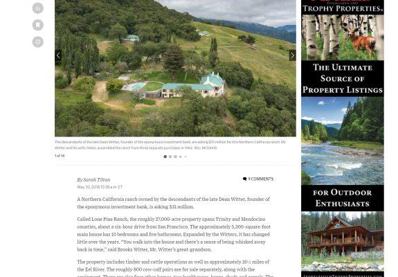 A True Trophy Property: Dean Witter's Lone Pine Ranch
