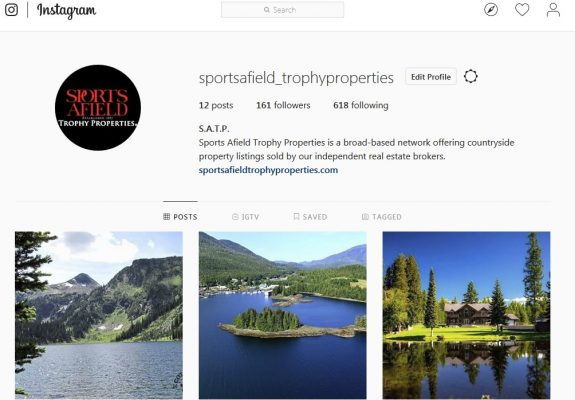 Sports Afield Trophy Properties on Instagram!
