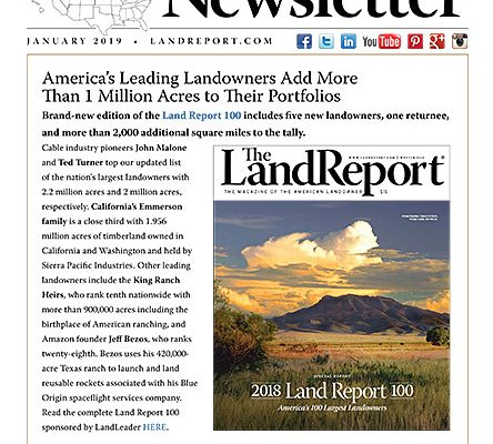 Land Report January 2019 Newsletter