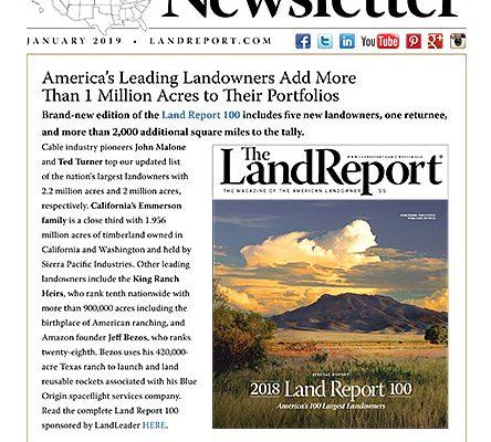 Land Report January 2019 Newsletter