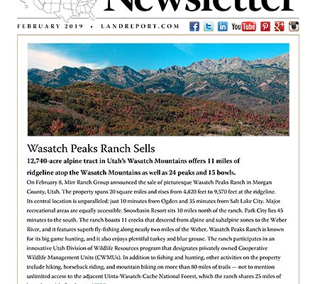 Land Report February 2019 Newsletter