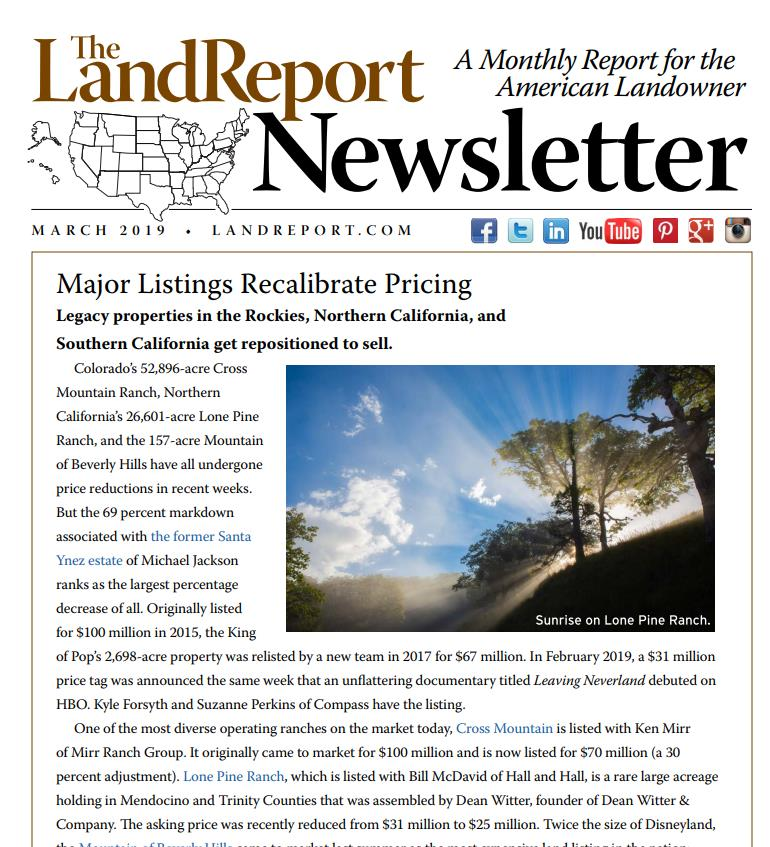 Land Report March 2019 Newsletter | Sports Afield Trophy