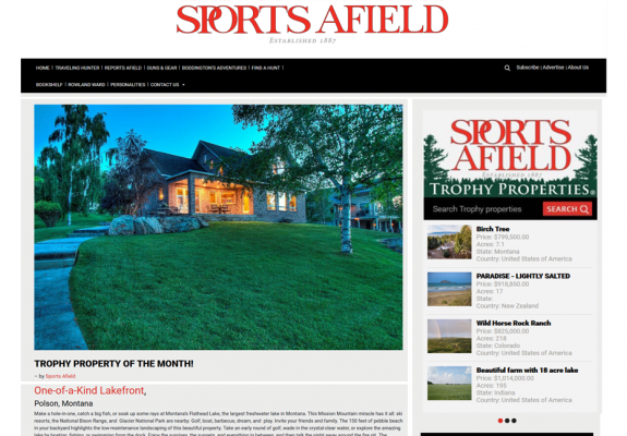 Sports Afield Trophy Property of the Month