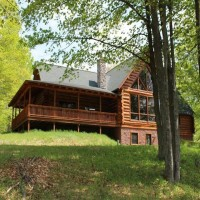 Red Pine Log Home Property Photograph