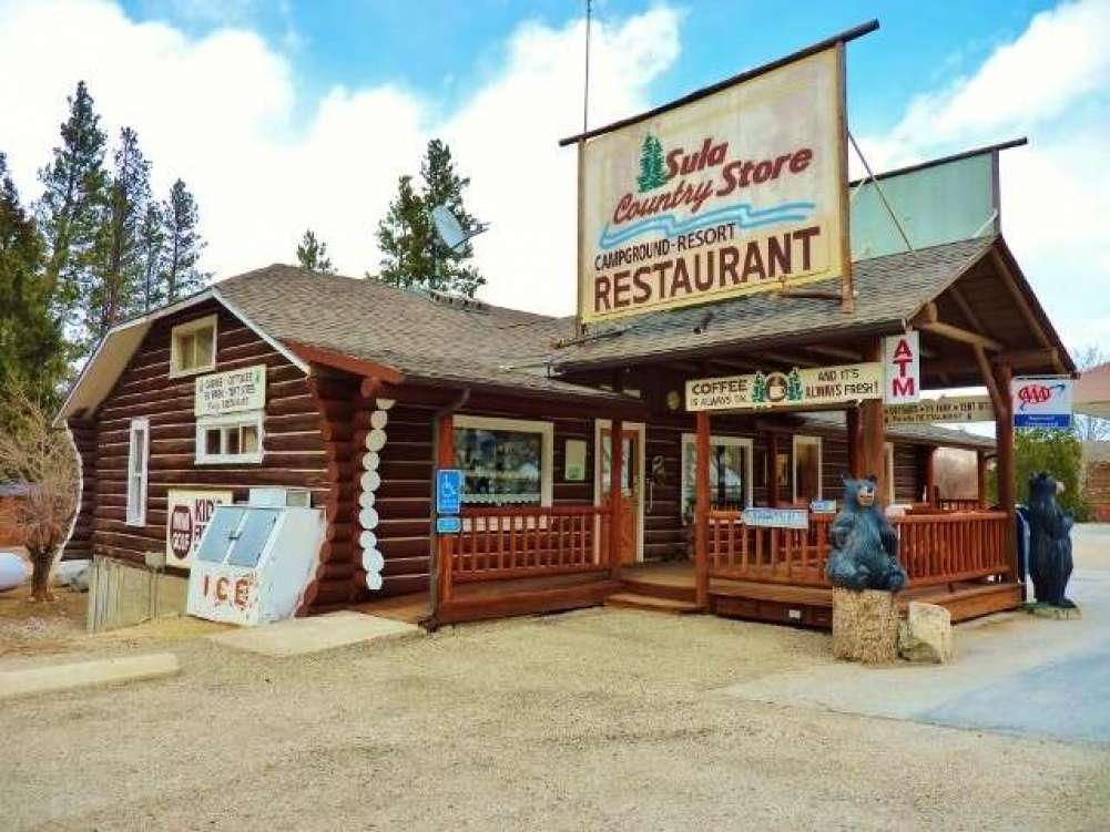 The Sula Store, Cabins, RV Park - Western Montana Property Photograph