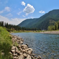 Western Montana 3/4 Mile Riverfront Land Property Photograph