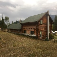 Country Log Home On 60 Acres Property Photograph