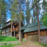 Log Home Estate Property Photograph