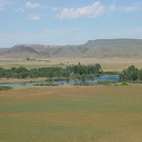Overlooking the Big Horn River Property Photograph