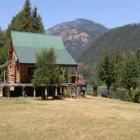 Kootenai Riverfront Home Property Photograph