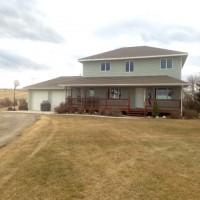 Central Montana Custom Home Property Photograph
