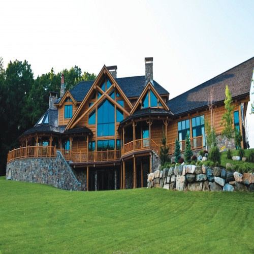 Magnificent Timber Built Estate Property Photograph