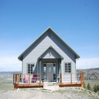 Custom Home Overlooking the Yellowstone River Property Photograph