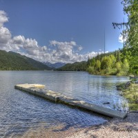 On The Shores Of Swan Lake Property Photograph
