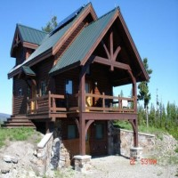 Exquisite, Top Of The Mountain, Off-Grid Log Home Property Photograph