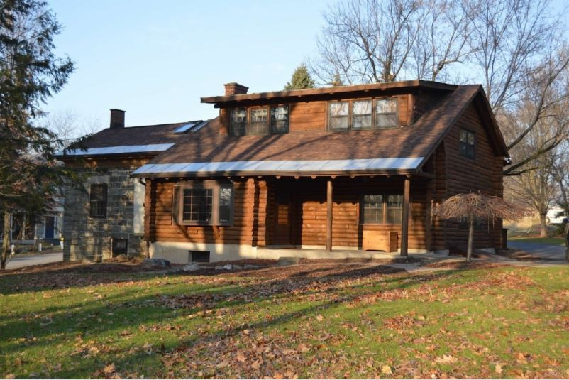 Log Home in Mexico NY on Little Salmon River Property Photograph
