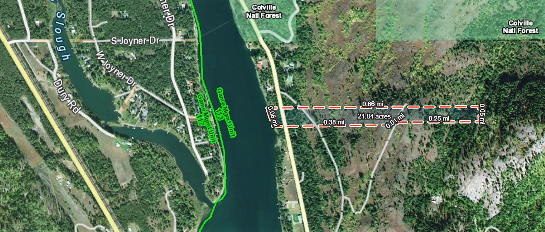 20 Surveyed Riverfront Acres Property Photograph
