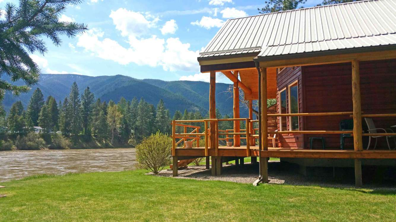 Western Montana Riverfront Home with Garage/Shop Property Photograph