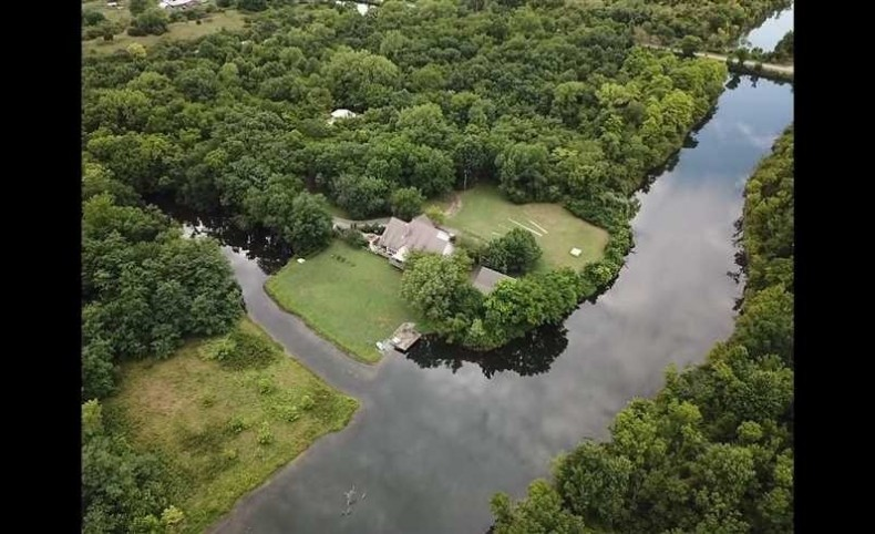 Stricking Waterfront Residence with acreage in Southeast Kansas
