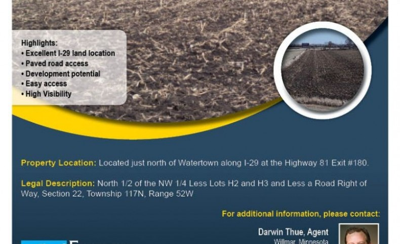 Development Land! 60.88 Acres, Codington County, South Dakota
