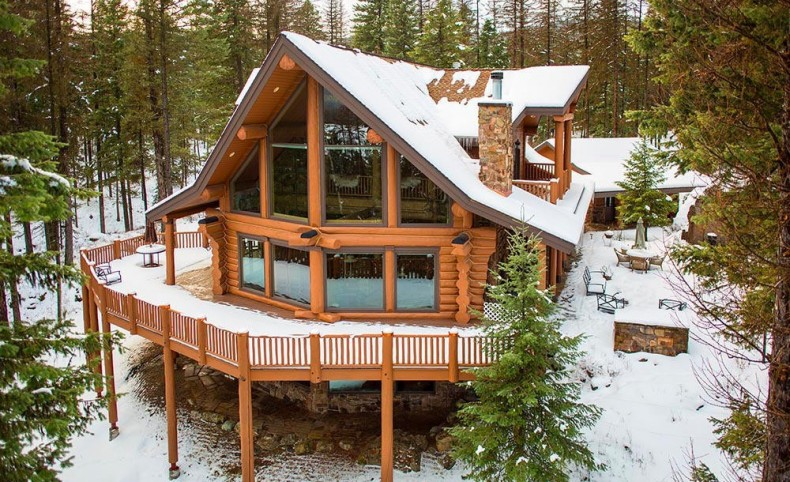 Farm to Market Custom Log Home
